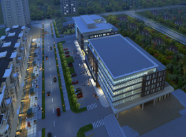 Commercial Building Master Plan Rendering